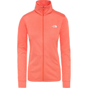 The North Face Quest Full Zip Midlayer Damen radiant orange white heather radiant orange white heather
