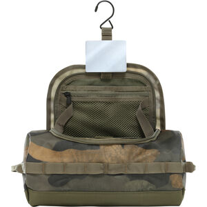 The North Face Base Camp Travel Canister L burnt olive green waxed camo print burnt olive green waxed camo print