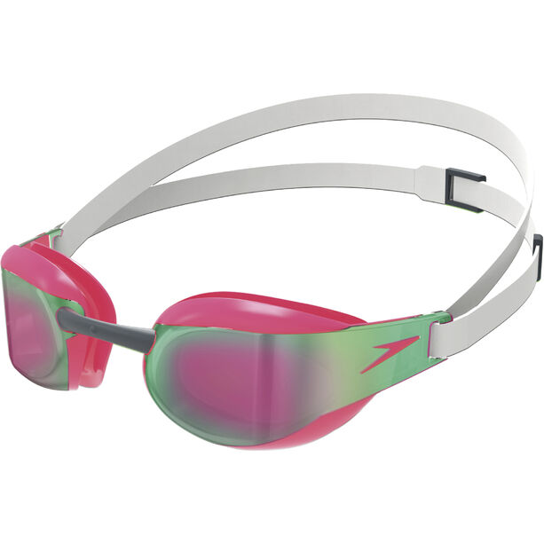 speedo Fastskin Elite Mirror Goggles white/red