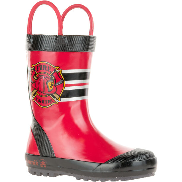 Kamik Fireman Rubber Boots Kinder red
