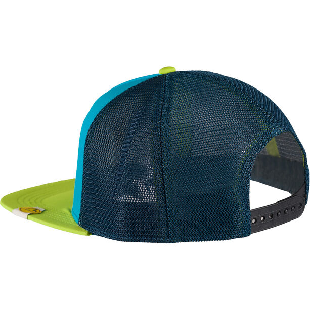 La Sportiva Hipster Trucker Hat Herren apple green/tropic blue