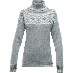 Devold Ona Round Sweater Damen grey melange grey melange