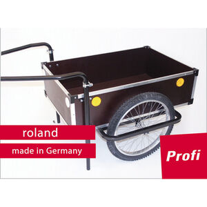 "Roland Profi Anhänger 20"" Doppeldeichsel holz/metall holz/metall"