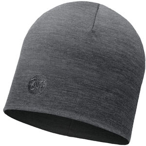 Buff Heavyweight Merino Wool Hat regular solid grey solid grey