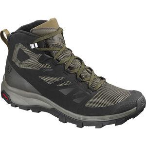 Salomon OUTline Mid GTX Shoes Herren black/beluga/capers black/beluga/capers