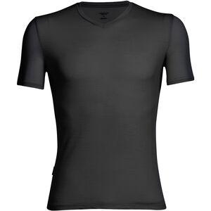 Icebreaker Anatomica SS V-Neck Shirt Herren black/monsoon black/monsoon