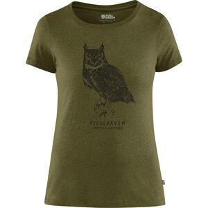 Fjällräven Owl Print T-Shirt Damen green green