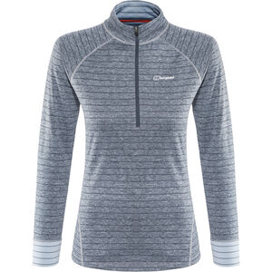 Berghaus Thermal Tech LS Zip Tee Damen carbon/trade winds carbon/trade winds