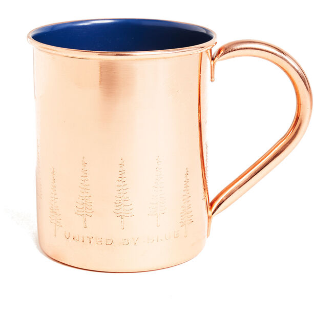 United By Blue Evergreen Lined Mug Kupfer/Emaille Becher 414ml blue