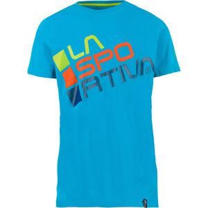 La Sportiva Square T-Shirt Herren tropic blue/apple green