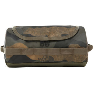The North Face Base Camp Travel Canister S burnt olive green waxed camo print burnt olive green waxed camo print
