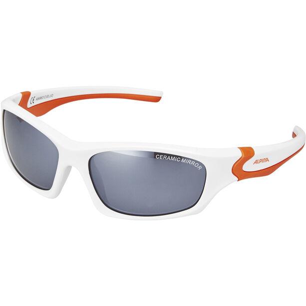 Alpina Flexxy Teen Brille Jugend white-orange