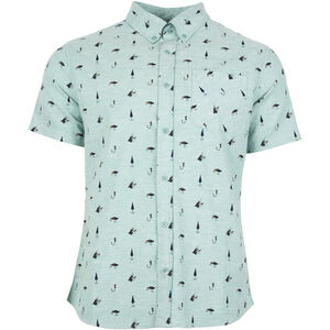 United By Blue Norde Stretch SS Button Down Herren sea green-hooked sea green-hooked