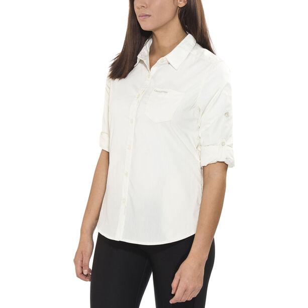 Craghoppers Kiwi Longsleeved Shirt Damen sea salt