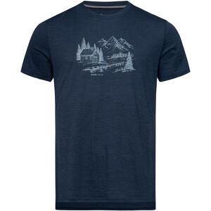 super.natural Graphic T-Shirt Herren blue iris melange/fresh white blue iris melange/fresh white