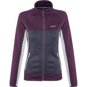 Meru Märsta Knitted Fleece Jacket Damen outer space melange outer space melange