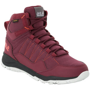 Jack Wolfskin Maze Texapore Mid-Cut Schuhe Damen burgundy/phantom burgundy/phantom