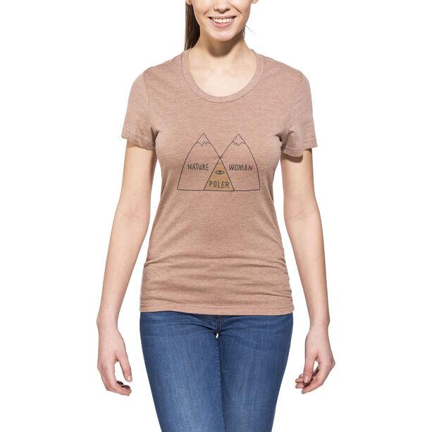 POLER Venn T-Shirt Damen brown heather