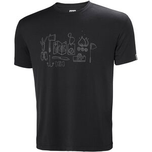 Helly Hansen Skog Graphic T-Shirt Herren ebony ebony