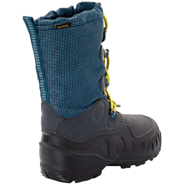Jack Wolfskin Iceland Texapore High Stiefel Kinder blue/lime