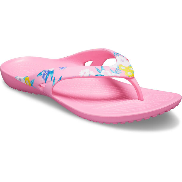 Crocs Kadee II Printed Flips Damen tropical floral/pink lemonade