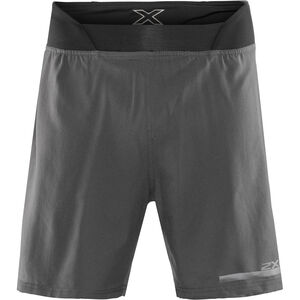 "2XU Run 2 In 1 Compression Shorts 7"" Herren charcoal/nero charcoal/nero"