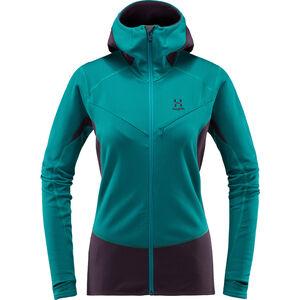 Haglöfs L.I.M Touring Hood Jacket Damen alpine green/acai berry alpine green/acai berry
