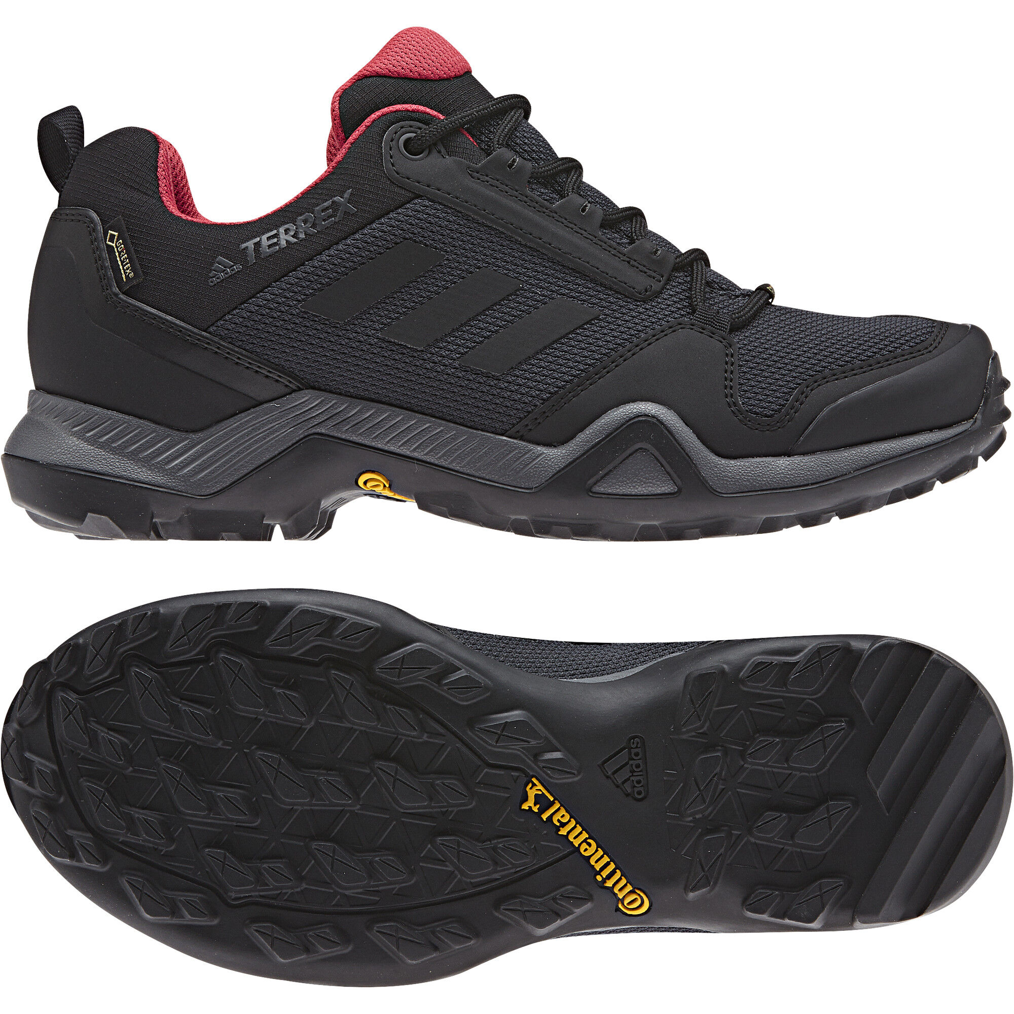 adidas TERREX AX3 GTX Shoes Damen carboncore blackactive pink