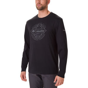 Columbia Cades Cove Langarm Graphic T-Shirt Herren black/faceted badge black/faceted badge