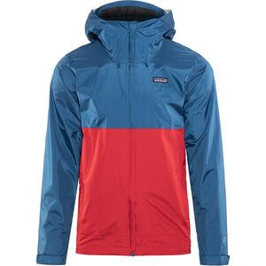 Patagonia Torrentshell Jacke Herren big sur blue w/fire red big sur blue w/fire red