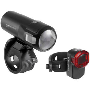 Axa Compactline 20 Akku-Beleuchtungsset LED StVZO black black