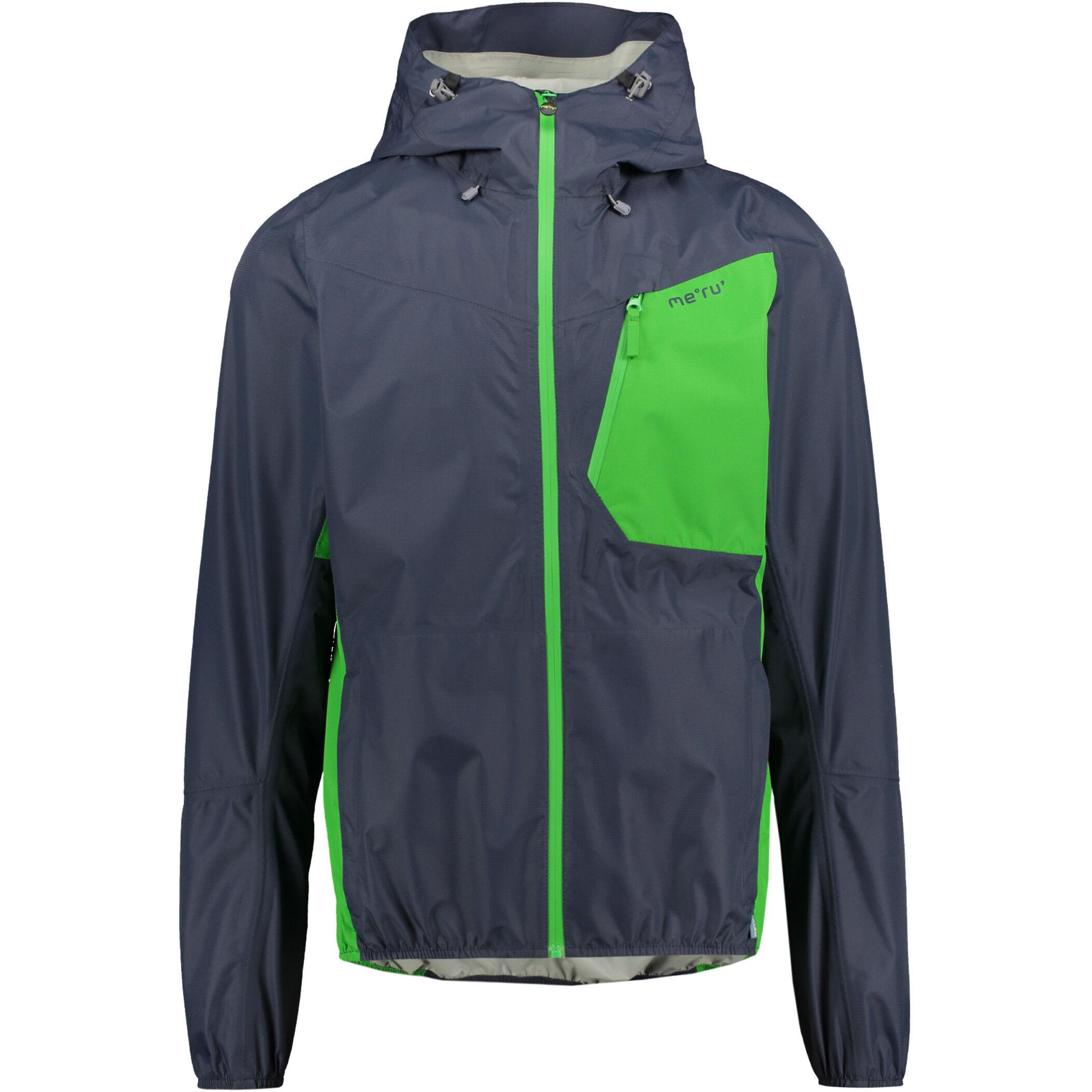 Meru Cromwell Waterproof 2,5 Layer Jacket Herren blue nightsonline lime