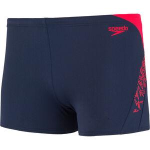 speedo Boom Splice Aquashorts Herren navy/lava red navy/lava red