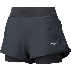 Mizuno Mujin 4.5 2In1 Shorts Damen black black