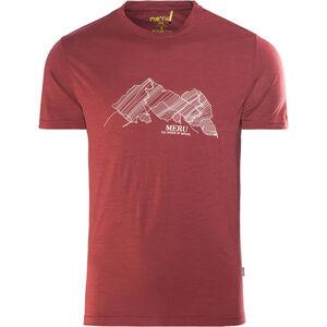 Meru Tumba Wool SS Shirt Herren rhubarb rhubarb