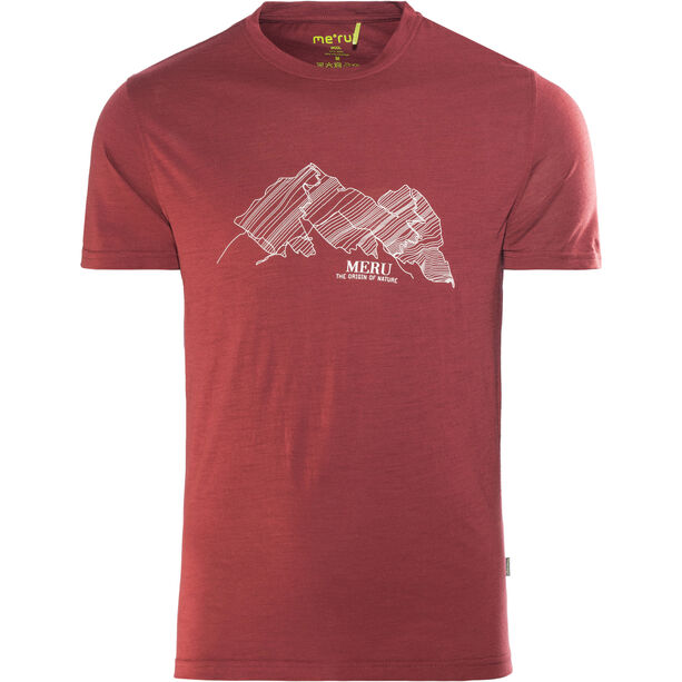 Meru Tumba Wool SS Shirt Herren rhubarb