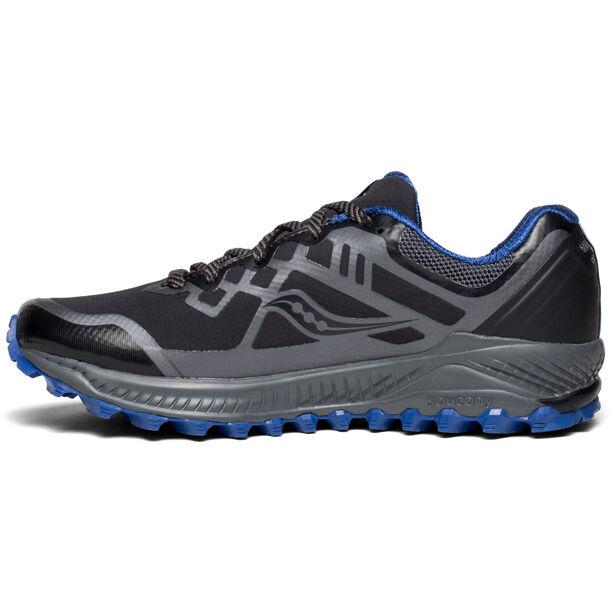 saucony Peregrine 8 GTX Shoes Herren black/grey/blue
