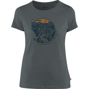 Fjällräven Arctic Fox Print T-Shirt Damen dusk dusk