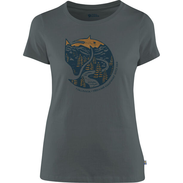 Fjällräven Arctic Fox Print T-Shirt Damen dusk