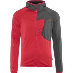 Meru Tuke Fleece Hoodie Herren high risk red/charcoal grey high risk red/charcoal grey