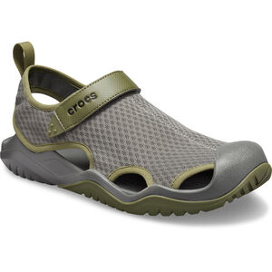 Crocs Swiftwater Mesh Deck Sandalen Herren slate grey slate grey