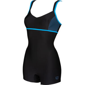 arena Venus Combi Badeanzug Damen black/shark/turquoise black/shark/turquoise
