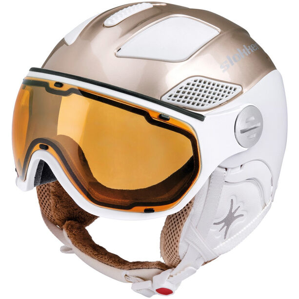 Slokker Free Helm Damen gold white
