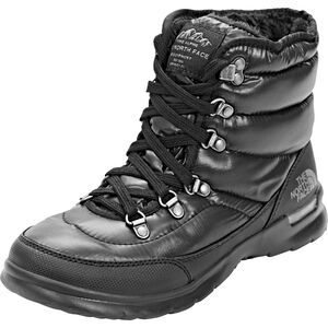 The North Face Thermoball Lace II Schuhe Damen shiny tnf black/iron gate grey shiny tnf black/iron gate grey
