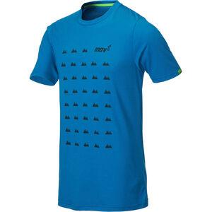 inov-8 Tri Blend Inov-8 SS Tee Herren blue grid blue grid
