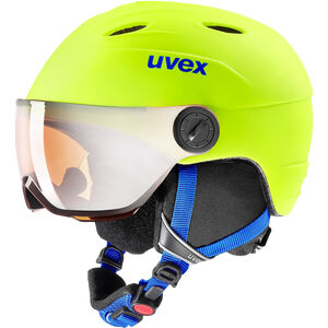 UVEX Junior Visor Pro Helmet Kinder neon yellow mat neon yellow mat