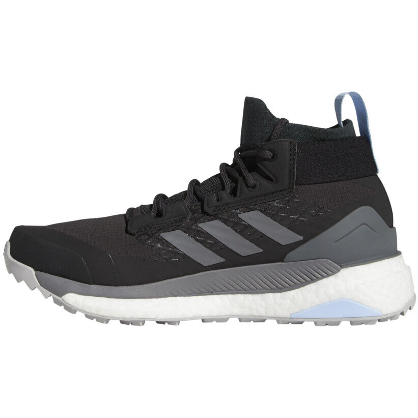 adidas TERREX Free Hiker GORE TEX Wanderschuhe Damen carbongrey fourglossy blue