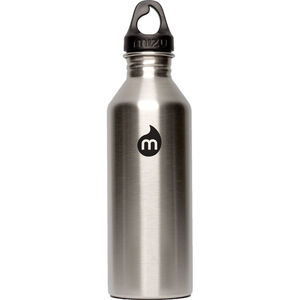 MIZU M8 Bottle with Black Print & Loop Cap 800ml Stainless Stainless
