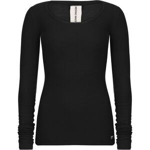super.natural Rib Langarmshirt Damen jet black jet black
