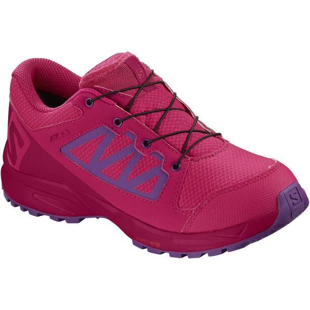 Salomon XA Elevate CSWP Shoes Kinder virtual pink/cerise./purple magic